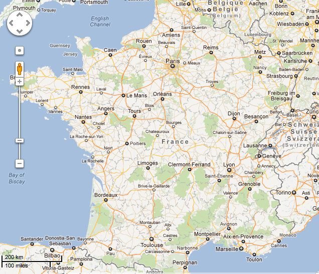 Street Map Of Tours France